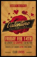 Valentine's Party Flyer Retro by Dilanr