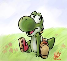 Yoshi Being Cute by AndrewDickman
