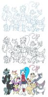 Pokecats - WIP by Fificat