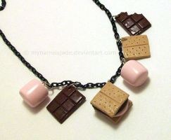 S'mores Necklace - commission by CantankerousCupcake