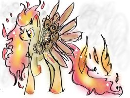 Steampunk Fire Pony Thing :D by GeekPony