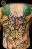Backpiece clown letter color by 2Face-Tattoo