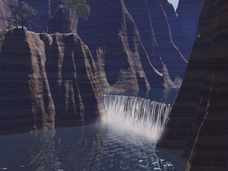 Waterfall Gorge by Couchie