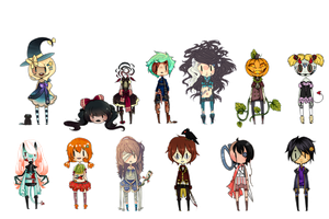 [ SUPER COOL HALLOWEEN COLLAB 2012 ] by sockjuice