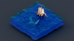 Low Poly Pirate Ship Vs Whale by Dustinnb