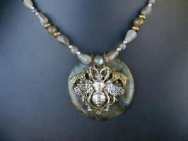 Labradorite Bee by BacktoEarthCreations