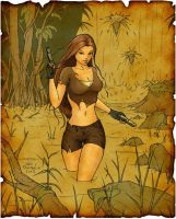 Lara Croft color by ivanzar82