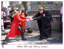 FMA Cosplay - Ed Vs Harry by pride-ed