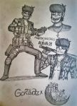 Murdoc Niccals as Goro Majima sketches by Fil101