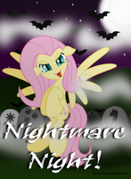 Vampire Fluttershy - evil  [Nightmare Night!] by KyssS90