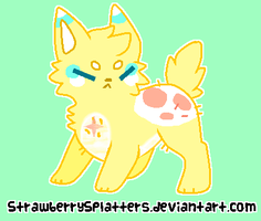 Lemon-Drop Yellow Cutie For Sale - CLOSED! by Griffkat