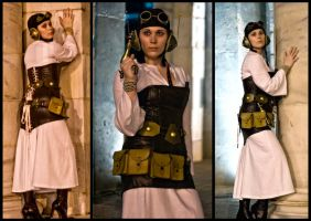 Steampunk Leia Corset for Sale by ljvaughn