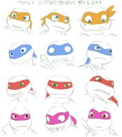 TMNT Expressions by Succubii