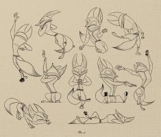 192. Master Fox sketches by nik159