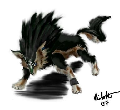 Link in Wolf Form by neecolette