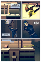 Nightwing vs Blue Beetle, Pg 4 by Dkalban
