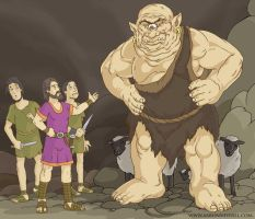 Odysseus and the Cyclops. by MythAdvocate
