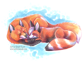 Foxenprint Commission by bawky