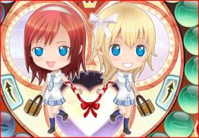 KIndom Hearts: Kairi and Namine, School Day by thebigblackdevil5