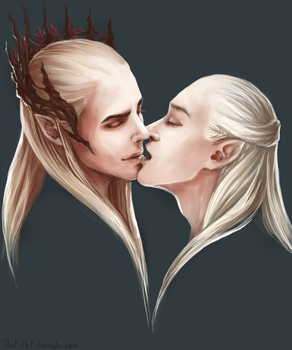 Elvenkiss. Thranduil/Legolas by the-ALEF