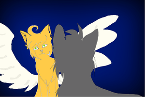 Squirrelflight and Ashfur by JellybellStar