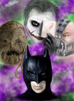 Batman and Villains by Pandoras-Encore
