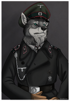 Commission - Wolfshund by BlueHunter