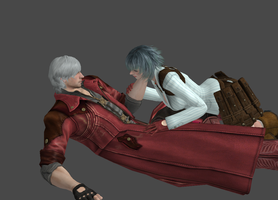 Dante and Lady by a-m-b-e-r-w-o-l-f