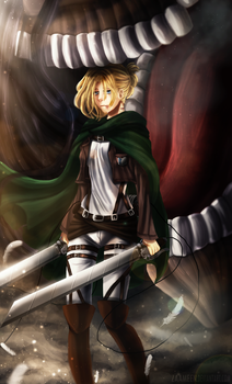Annie Leonhardt - Attack On Titan by zaameen
