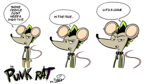 The Punk Rat Is Back On Track by chillyfranco