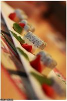 Wasabi and Black Sesame Cheese Cake by viennidemizerable