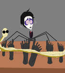 Man with a spider legs tickled by TheBurtontickler13