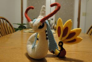 Shiny Milotic amigurumi by frozen-cookie
