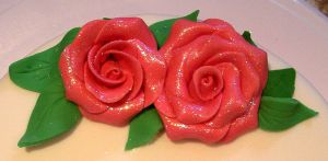 Glitter roses by bahgee