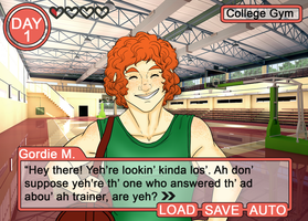 College Dating Sim: Gordie by MissPomp