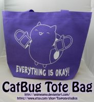 CatBug Tote Bag by AnimeAmy