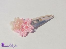 Beaded Sakura Hairclip by Sarinilli