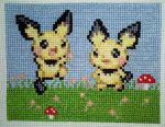 Pichus Love the Springtime cross stitch by starrley