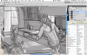 APH: Spain and Romano WIP by KanaRae