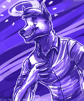 COMMISSION: Purple Halo by Rehgan