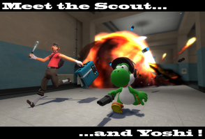 Scout and Yoshi by ZeFrenchM