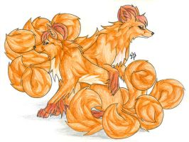 Vulpix Duo by CaptainMorwen