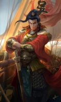 Dynasty warrior - SunQuan by derrickSong
