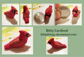 Bitty Cardinal by Bittythings