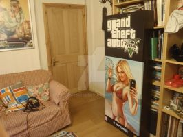 Grand Theft Auto V Game Shop Standee VERY BIG by DOM098652
