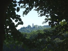 Castle View from the Woods by PaulEberhardt