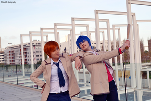 Angel Beats - Otonashi and Hinata by SweetCandyCupkake