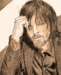 Norman Reedus by X-Enlee-X