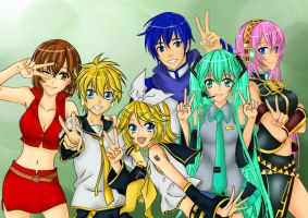 Vocaloid Colored :3 by Seraphinit