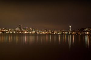 Seattle Skyline HDR Long-Expos by zblowfish